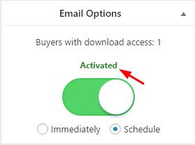 تنظیمات ایمیل افزونه wcdpue pro